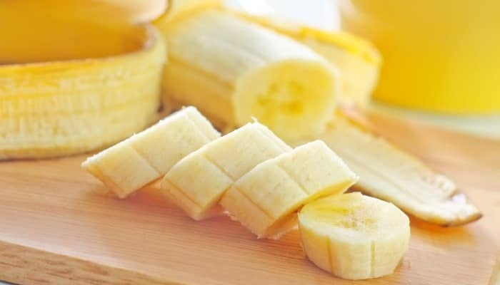 sliced banana