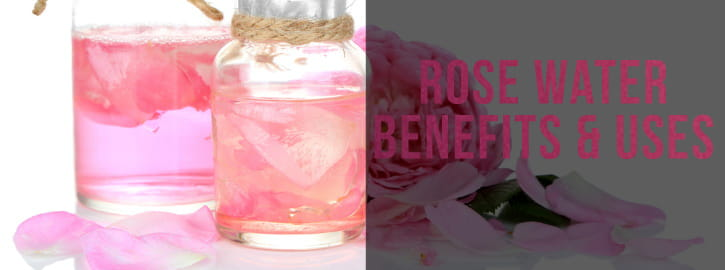 rose hydrosol in bottle