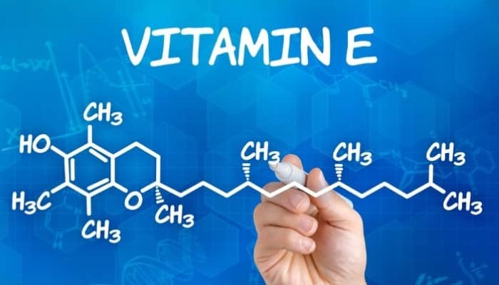 The chemical structure of vitamin E
